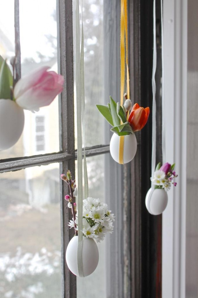 Easter DIY hanging easter posies