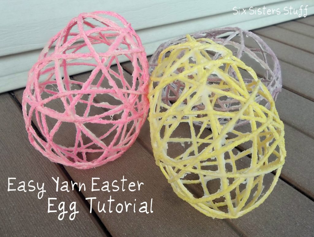 Easter DIY yarn easter eggs