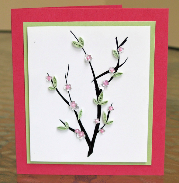 Mothers Day card DIYs  cherry blossom card