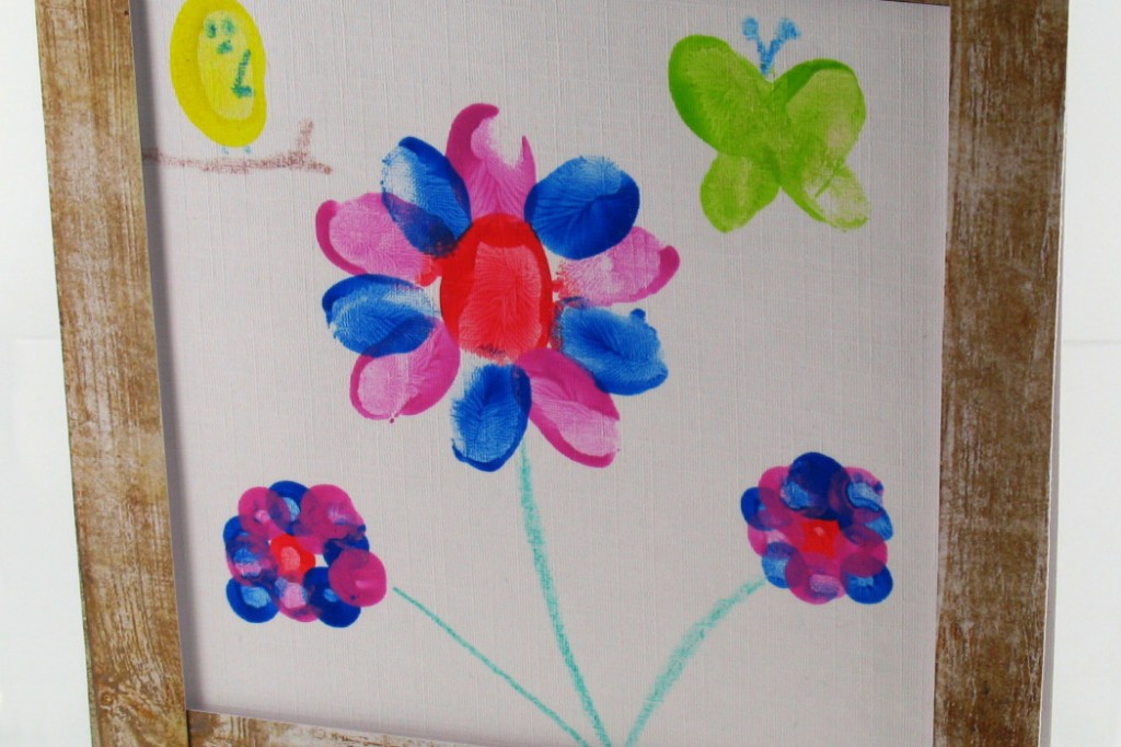 Mothers Day card DIYs fingerprint card