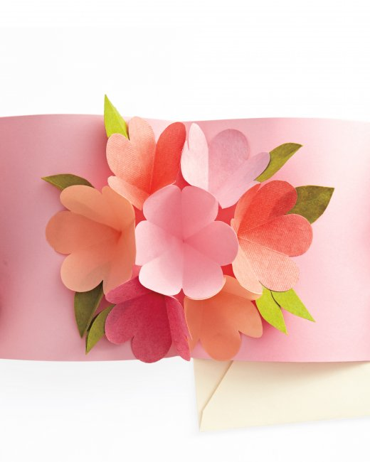 Mothers Day card DIYs floral pop up card
