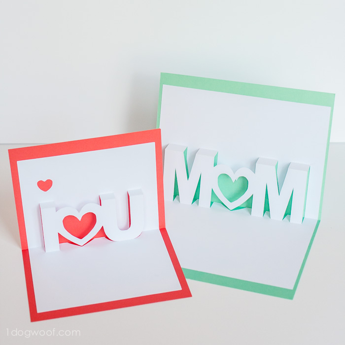 Mothers Day card DIYs pop up mom card