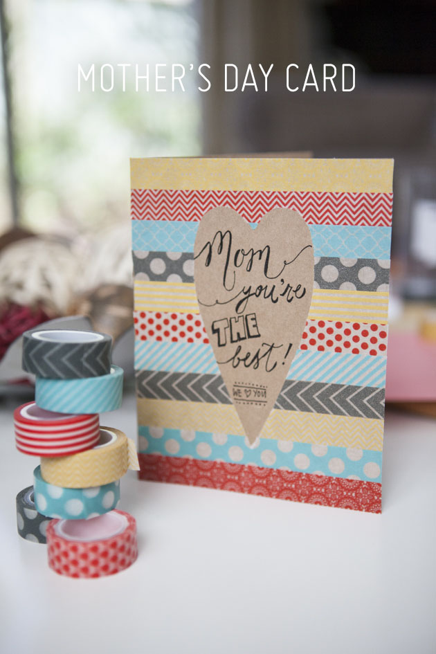 Mothers Day card DIYs washi tape card