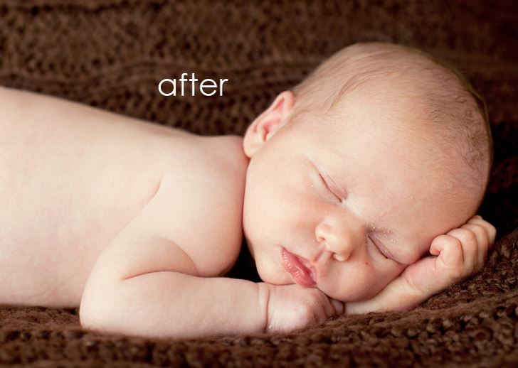 Newborn photography tutorials- colour correction