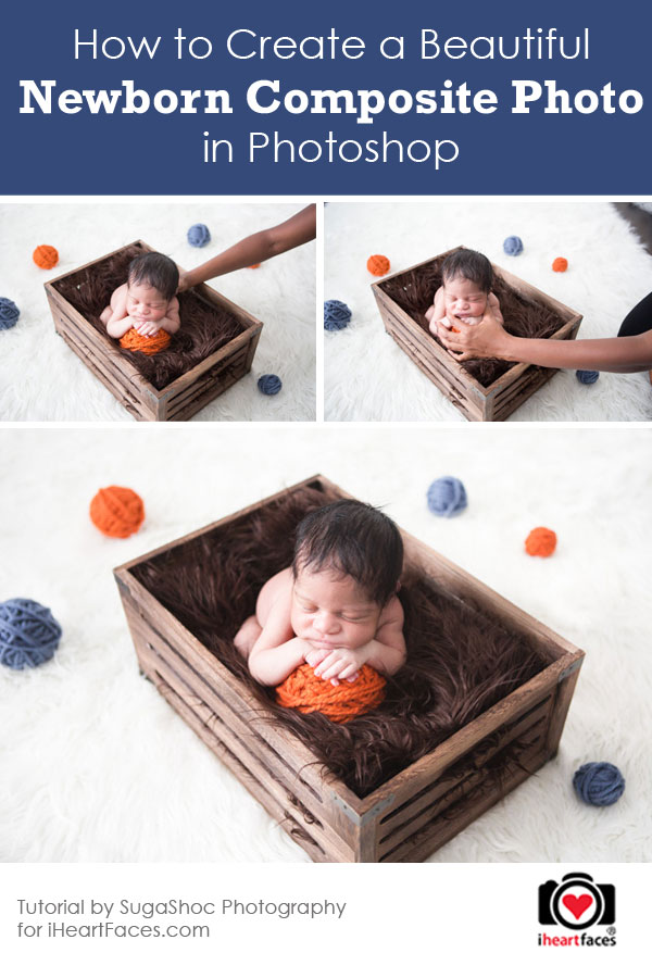 Newborn photography tutorials composite photo