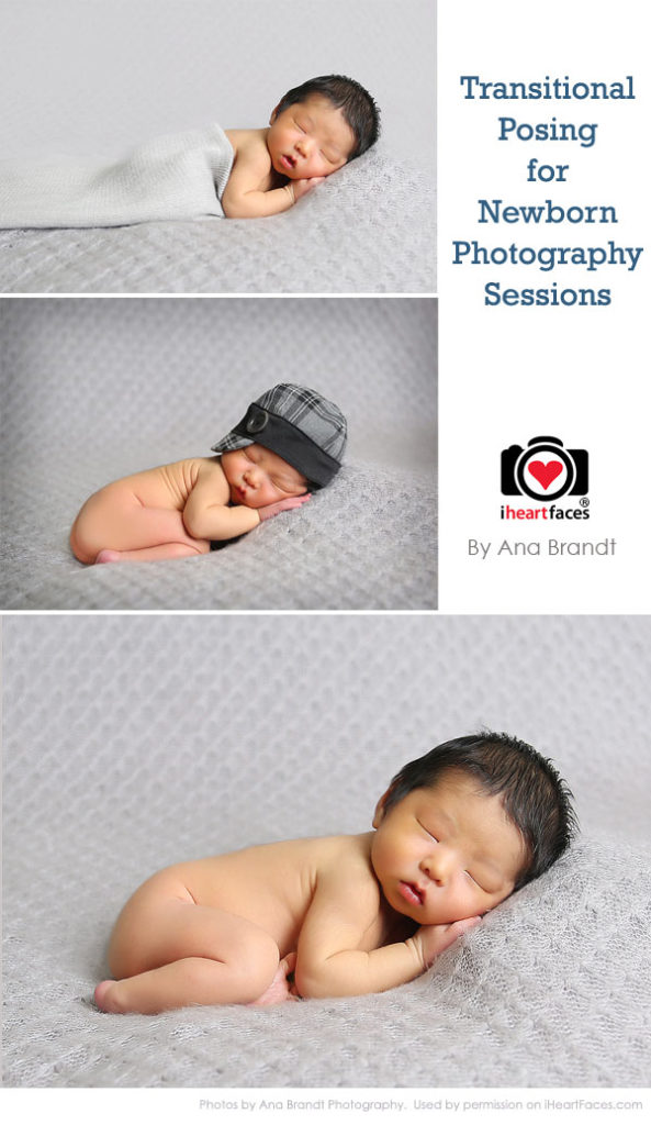 Newborn photography tutorials- transitional posing