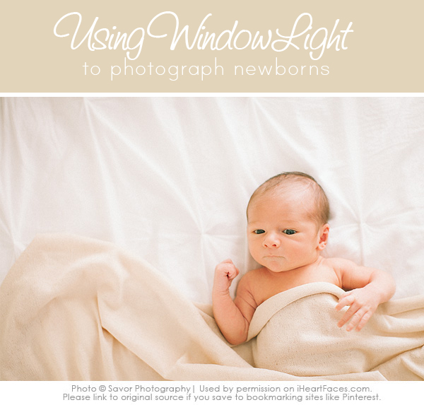 Newborn photography tutorials- using window light