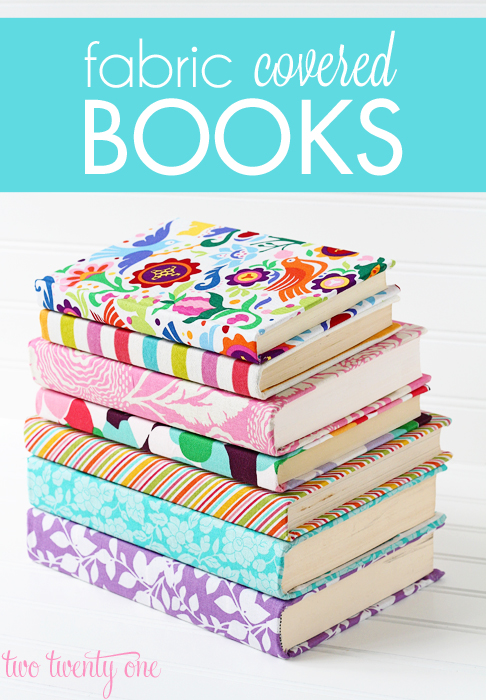 Springtime Decoration Tutorial DIYs- Fabric Covered Books
