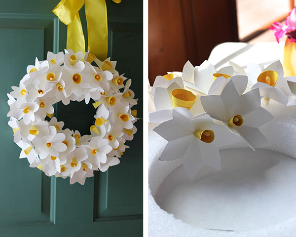 Springtime Decoration Tutorials- Paper Daffodil Wreath
