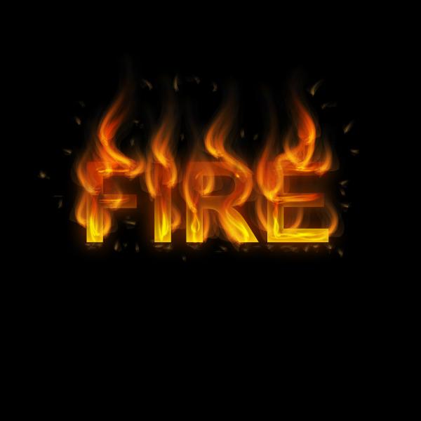 Typography tutorials fire effect