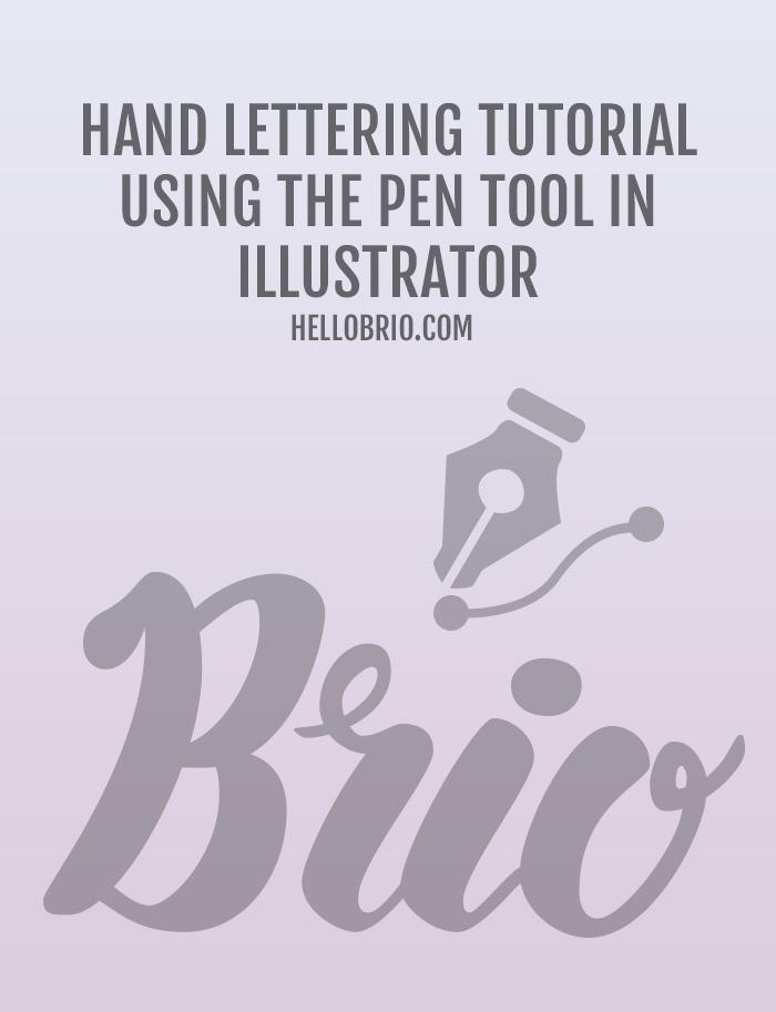 Typography tutorials hand lettering