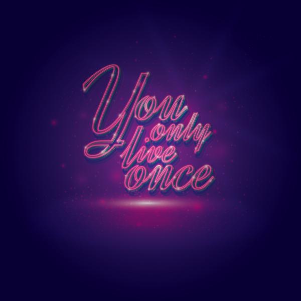Typography tutorials neon effect