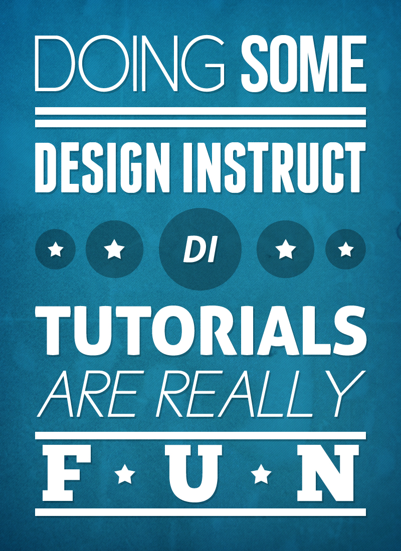 Brilliant Poster Designing Tutorials- textured typographic