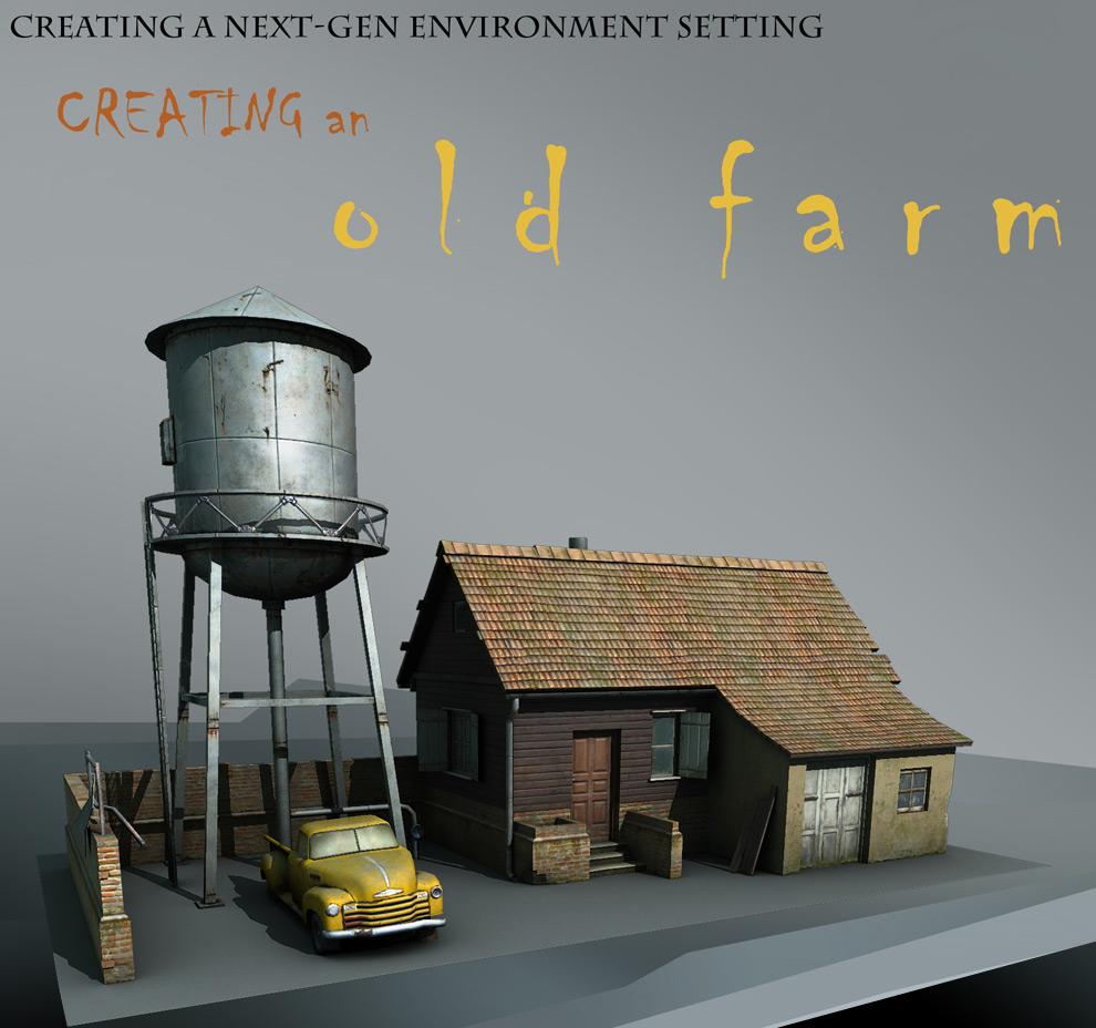 Maya Tutorials To Create Scenes and Buildings old farm