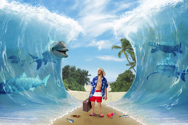 Photo Manipulation Photoshop Tutorials- Parting of the sea