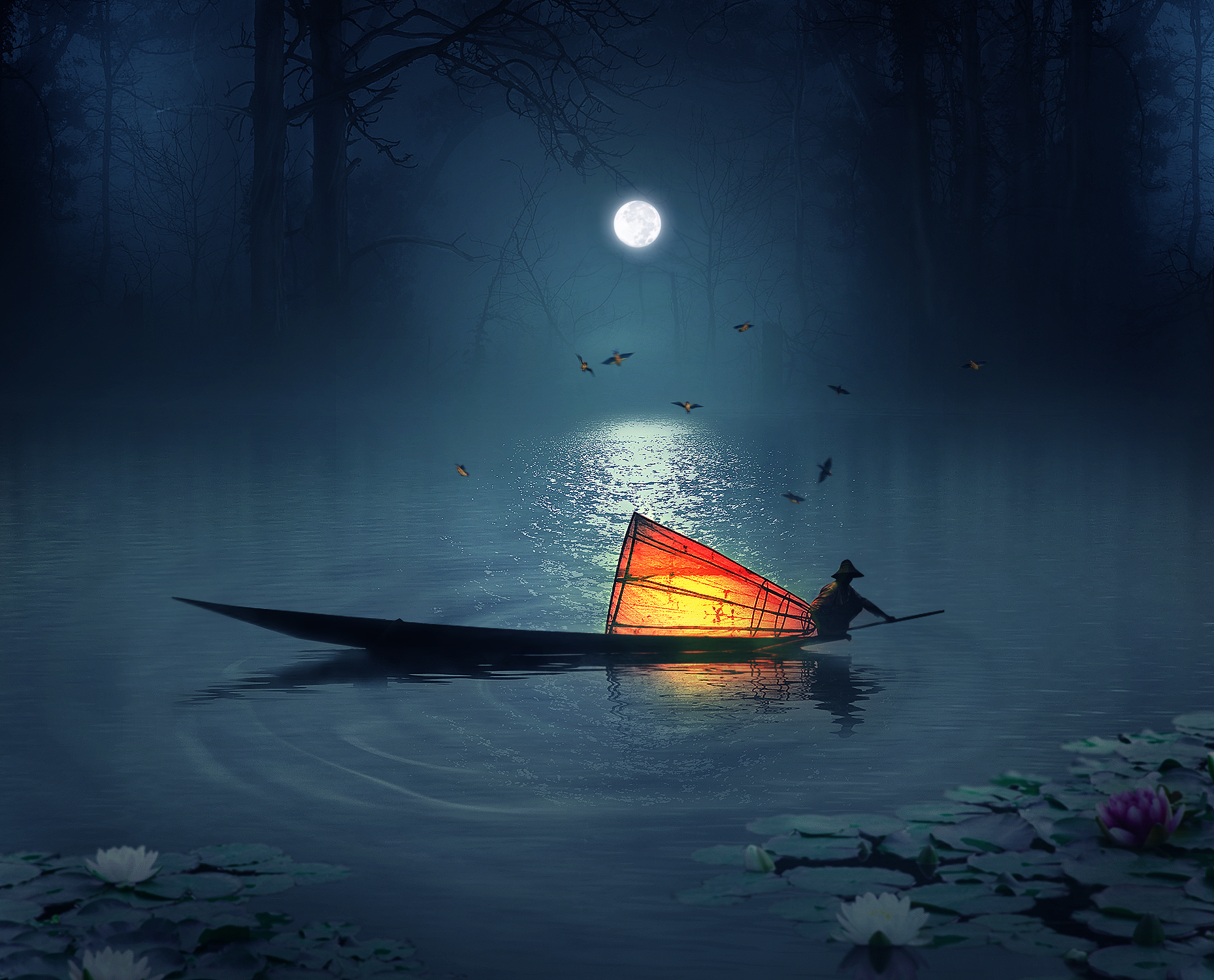 Photo Manipulation Photoshop Tutorials- fisherman