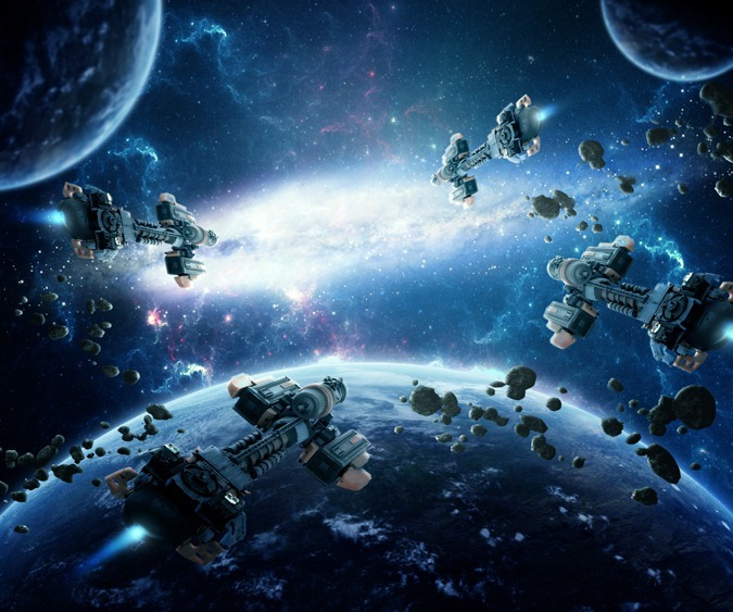 Photo Manipulation Photoshop Tutorials- space battle