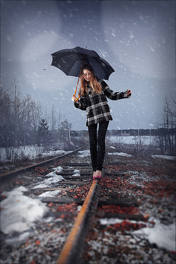 Photoshop Photo Effect Tutorials- falling snow