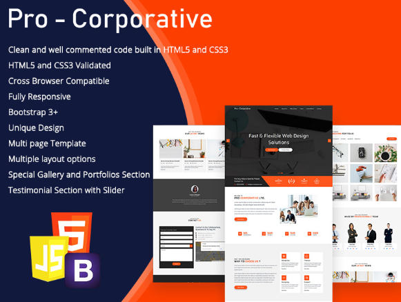3 Ideal HTML Templates For Corporate Websites